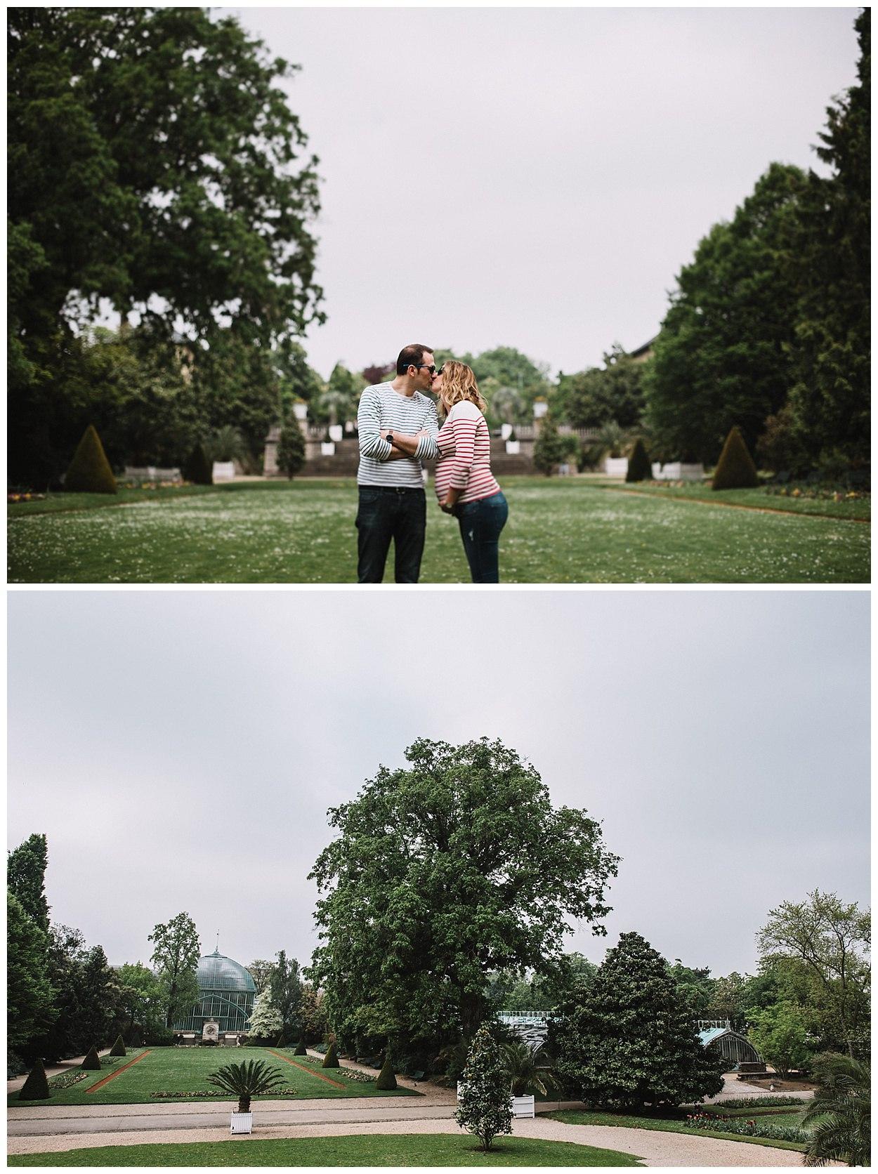 Paris séance grossesse couple Serres d'Auteuil