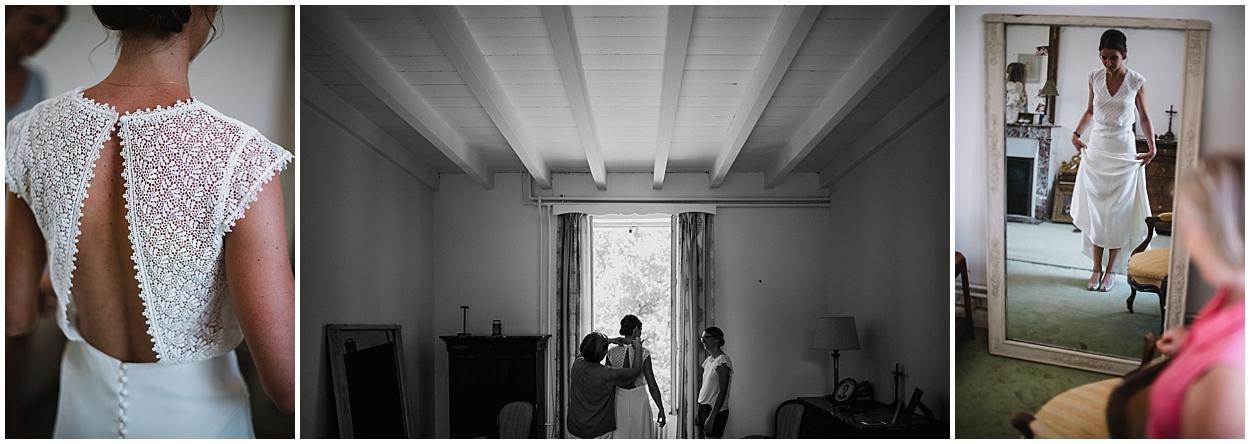 Mariage Chateau de Panloy préparatif mariée